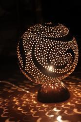 Gene Calebasse : Artisanat Lampe Guadeloupe